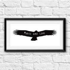 Peace and love. Printable and decorative wall art. by Cartelmania