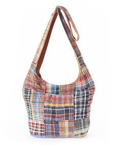 Look at this #zulilyfind! Blue & Red Plaid Shoulder Bag by Blue Sky #zulilyfinds