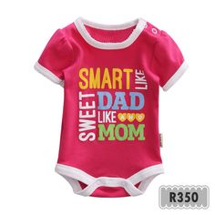 I'm sweet and smart like daddy and mom Pakaian bayi Baby clothes Jumper bayi Romper bayi Baby jumper Baju bayi Baby romper Baju anak Jumper Indonesia --------------------------------------- For more information: www.xsito-store.com --- Line : @rcb0969g --- BBM : 5B03BB9D --- Email : xsitostore@gmail.com --- Fb : xsito store