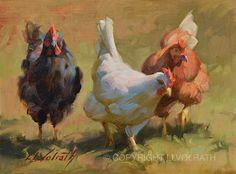 Three Little Hens by Linda Volrath