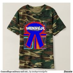 Camouflage military and outdoor print WINNER CHAMP Shirt