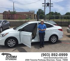 https://flic.kr/p/Jwx6xY | Happy Anniversary to Joann on your #Hyundai #Accent from Mike Red Robinson at Texoma Hyundai! | deliverymaxx.com/DealerReviews.aspx?DealerCode=L967