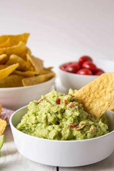 Fresh, homemade guacamole. Just four simple ingredients and you've got a great guacamole!