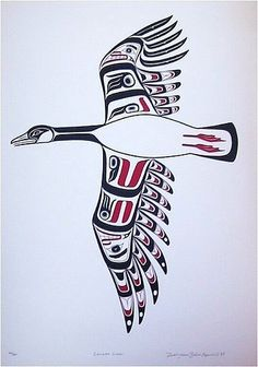 Canadian goose print by Todd Baker Inuit Kunst, Arte Inuit, Arte Haida, Haida Art, Inuit Art, Native American Symbols, Native American Design, Native Design, American Indian Art