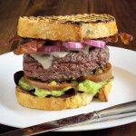 San Francisco Burger -Sippity Sup http://www.sippitysup.com/recipe/san-francisco-bacon-guacamole-cheeseburger/