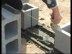 Albañileria -- Construir un muro con bloques - YouTube