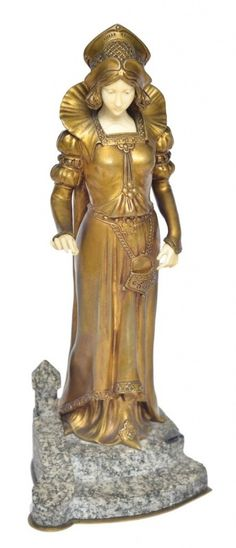 """DOMINIQUE ALONZO (FRANÇA, SÉC.XIX/XX). """"The Florentine Girl"""", escultura art deco em bronze e marfim Art Deco, Art Nouveau, Art Eras, Traditional Sculptures, Bronze, Cubism, French Artists, Sculpture Art, Ivory"""