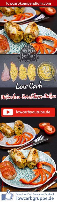 (Low Carb Kompendium) – Die Low-Carb Hähnchen-Frischkäse-Rollen sind der ideale deftige Snack, der nicht nur für den kleinen Hunger ausreicht. Diese Hähnchen-Rollen sind gefüllt mit einer cremig-würzigen Frischkäse-Zubereitung, die absolut fantastisch schmeckt.    Und nun wünschen wir dir viel Spaß beim Nachkochen, LG Andy & Diana.