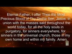 Prayer For The Holy Souls In Purgatory - YouTube