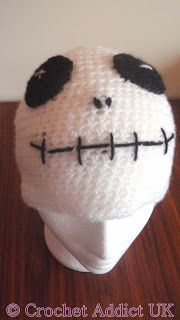 Love this! Ages 1 and up sizes! ~K Free Skeleton Beanie Hat Pattern ~ Crochet Addict UK