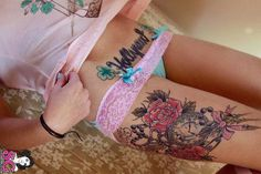 I like the thigh tattoo but is want more of a hip/thigh