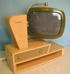 vintage 1950s tv #vintage #1950s...would be cool to make a similar unit to hold a flat screen.