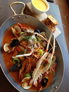Bouillabaisse with Rouille at Lafayette in NYC. Photo by A. Carmellini.