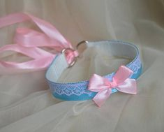 Kitten play collar  Blue sunset  two toned ddlg cgl princess