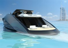 sleek boat concept by andrew bedov