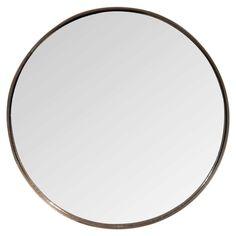 Miroir rond en métal cuivré D.51cm | Maisons du Monde