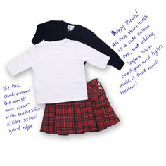 Preppy Pleats! All this skirt needs is a cute cotton tee, but adding layers like a cardigan and tights make it that much better! Tie the cardigan around the waist and wear with booties for a little school yard edge.
