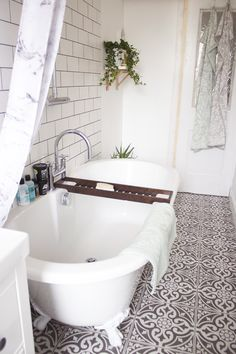 A Bathroom Makeover: Before & After. – 38 Trendy Interior European Style Ideas For You This Summer – Bathroom inspiration. A Bathroom Makeover: Before & After. Bathroom Floor Tiles, Bathroom Renos, Small Bathroom, Bathroom Ideas, Wall Tiles, Bathroom Marble, Tub Tile, Tile Floor, Bathroom Remodeling