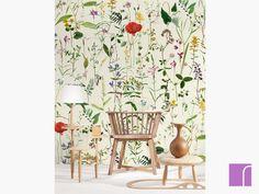 Aquafleur Taupe Foral Wallpaper