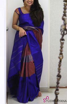 Kerala Saree Blouse Designs, Saree Blouse Neck Designs, Fancy Blouse Designs, Blouse Patterns, Simple Sarees, Trendy Sarees, Stylish Sarees, Fancy Sarees, Indian Fashion Dresses