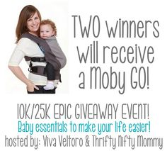 Thrifty Nifty Mommy: Moby GO Giveaway! TWO winners! #10K25KEpic Giveaway event!
