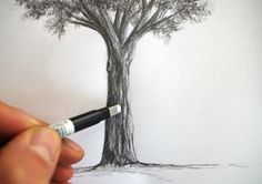 Trendy Landscape Sketch Simple To Draw Landscape Pencil Drawings, Landscape Sketch, Watercolor Landscape, Art Drawings, Plant Sketches, Tree Sketches, Sketchbook Inspiration, Art Sketchbook, Kreis Tattoo