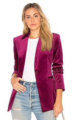Power Velvet Blazer