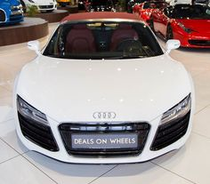 2015 Audi R8 Spyder V8 4.2 FSI Quattro - Al Nabooda Car With Warranty Until Oct 2017  Engine Size 4.2 Litre  Cylinders 8 Transmission Automatic  Maximum Power 430 bhp Drive Four Wheel Drive  0-100 km/h 4.8 Sec Seats 2 Exterior Color White  Red Top Specifications GCC Interior Color Black  Red  http://ift.tt/2qCUSYl