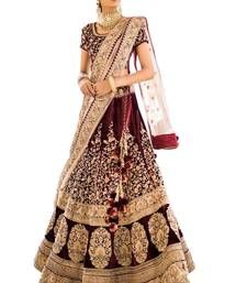Spark Creation Women's Bridal Collection Heavy Embroidered Indian 2 Ton Velvet Old Rose Lehenga Choli, Free Size(Maroon) Lehenga Collection, Bridal Collection, Wedding Lehenga Designs, Lehenga Online, Bridal Lehenga Choli, Online Shopping Clothes, Party Wear, Fashion Online, Bollywood