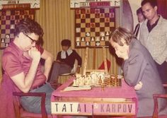 Tatai vs Karpov Anatoly Karpov, Art Through The Ages, Chess Players, Chess Pieces, Story Inspiration, Masters, Legends, Fans, Cartoon