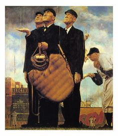 1949 - Game Called Because of Rain - by Norman Rockwell by x-ray delta one, via Flickr