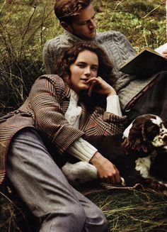Scottish Highland Tweed | with books, dogs and something nice to lean on.