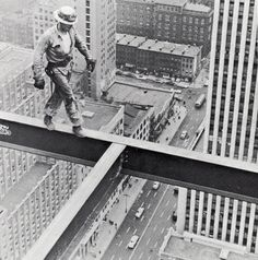 Steel Worker on Socony Mobil Building, 1955.