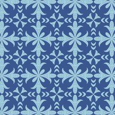 Hawthorne Threads - Monteverde - Block Print in Blue Jay