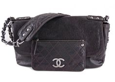 Chanel Brown Caviar Pocket in the City Classic Flap Bag