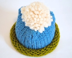 Hand Knit Baby Hat  Earth Sky & Cloud  machine washable by @Stockannette on @Etsy - this would be a fun #EarthDay photo shoot prop!
