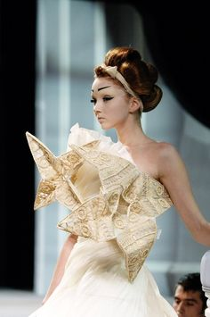 Lily Cole at Christian Dior Spring 2007 Couture #runway