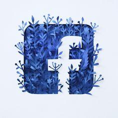 """다음 @Behance 프로젝트 확인: """"Paper Facebook Logo"""" www.behance.net/..."""