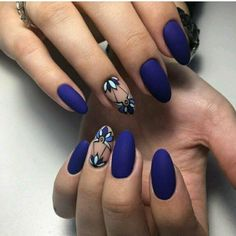 """If you're unfamiliar with nail trends and you hear the words """"coffin nails,"""" what comes to mind? It's not nails with coffins drawn on them. It's long nails with a square tip, and the look has. Blue Matte Nails, Red Nails, Hair And Nails, Matte Black, Beige Nail, Fake Gel Nails, Oval Nails, Shellac Nails, White Nails"""