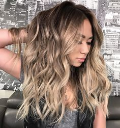 "Guy Tang® on Instagram: ""@hairbesties_ I gave @jessicaesanchez a new look yesterday ! After lifting her hair I gloss over it with a combination 7vm 8vm 9vm and clear Demi permanent @kenraprofessional color! This is what the Violet metallics look like naturally without any boosters, it's great for toning out that yellow and create a cool finish without the all the yellow undertones! I only use Violet boosters when I want it to be amped up!"""