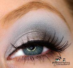 MAC eyeshadows used:  Electra (inner half of lid) Smut (outer half of lid and lower lashline) Electric Eel (crease) Gesso (blend)