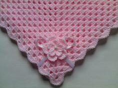 Manta Bebé crochet sencilla