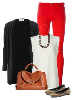 """""""Red Jeans"""" by ksims-1 ❤ liked on Polyvore featuring Love Moschino, Allude, Dolce&Gabbana, Crocs, Salvatore Ferragamo and Michael Kors"""