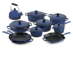 Le Creuset Signature 15-Piece Cookware Set with Tea Kettle #williamssonoma