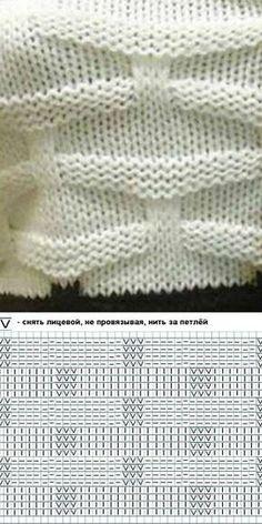 Схема красивого узора спицами