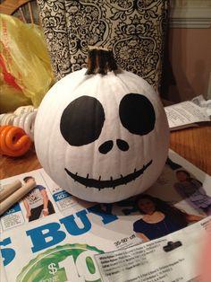 Jack Skellington for my painted pumpkin!