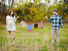 Cute pregnancy shoot idea.