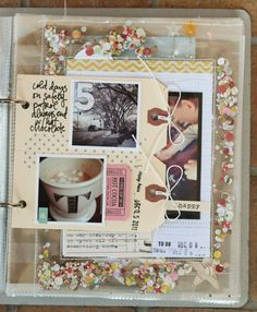 Idea -- Two Shipping Tags Held Together with Washi Tape to Create a Page for Photos & Journaling.