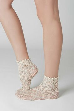If only I could afford anthropologie socks-- I would wear these with EVERYTHING.