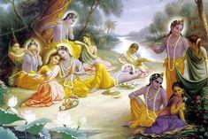 Lord Krishna with his gopis Lord Krishna Images, Radha Krishna Pictures, Radha Krishna Photo, Krishna Photos, Krishna Art, Bal Krishna, Krishna Leela, Shree Krishna, Radhe Krishna